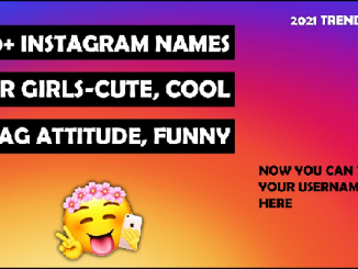 Attitude names for Instagram for Girls